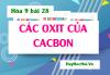 Tính chất hóa học của Cacbon Oxit (CO) Cacbon Đioxit (CO2) Ứng dụng và Bài tập - Hóa 9 bài 28